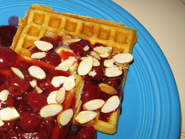 Cardamom And Nutmeg Waffles With Minted Strawberries ...
